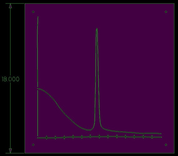 Custom order for Farishta - Polish & Clearcoat - Graph Chart - 18 Inch