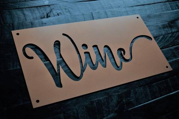Metal Wine Sign | Vineyard | Drink Wine | Wine Glass | Red Wine | Grapes | Wino | Vino | Wine Art | Wine Decor | Wine Metal Sign | Vino
