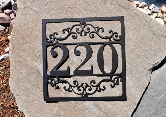 Metal Outdoor Home Address Sign- Personalized House Number Plaque. Address Plaque. Outdoor Sign. House Number Plaque. Door Numbers