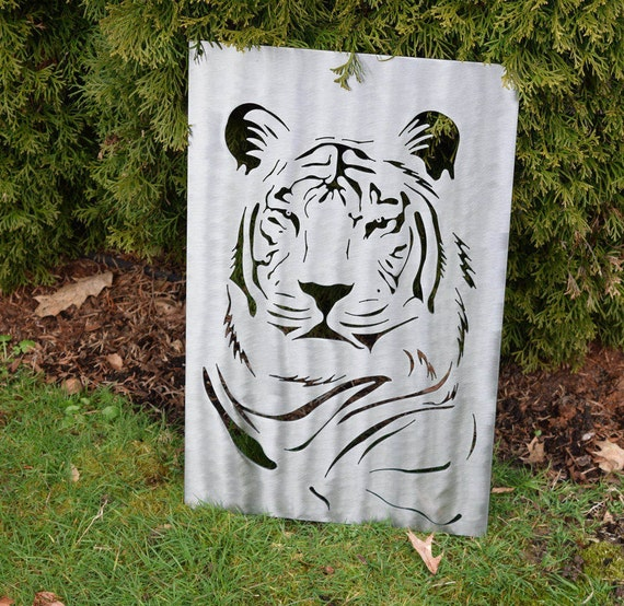 Siberian Tiger Metal Wall Art - Custom Metal Art - Zoo Animal Art