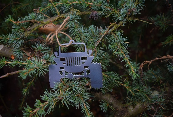 Jeep YJ Metal Steel Christmas Ornament  | Christmas Ornament | Christmas Decor | Rearview Mirror | Off Road Explore Trails Adventure 4x4