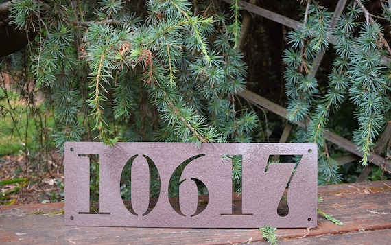 Metal Horizontal Home Address Sign| Personalized House Number Plaque | Address Plaque | Outdoor Sign| Mailbox Numbers | House Numbers