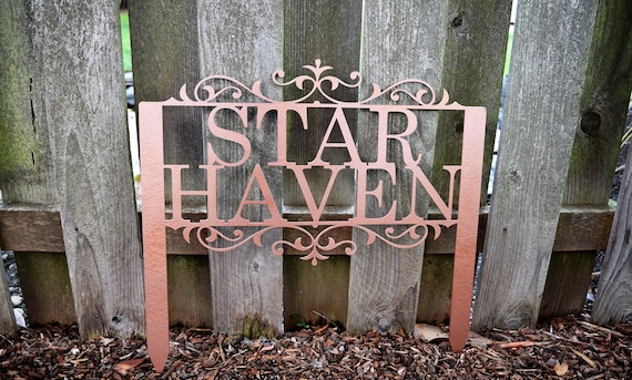Custom Metal Staked Garden Sign - Custom Metal Name Sign - Metal Custom Garden Art Metal Garden Sign Yard Art Garden Decoration