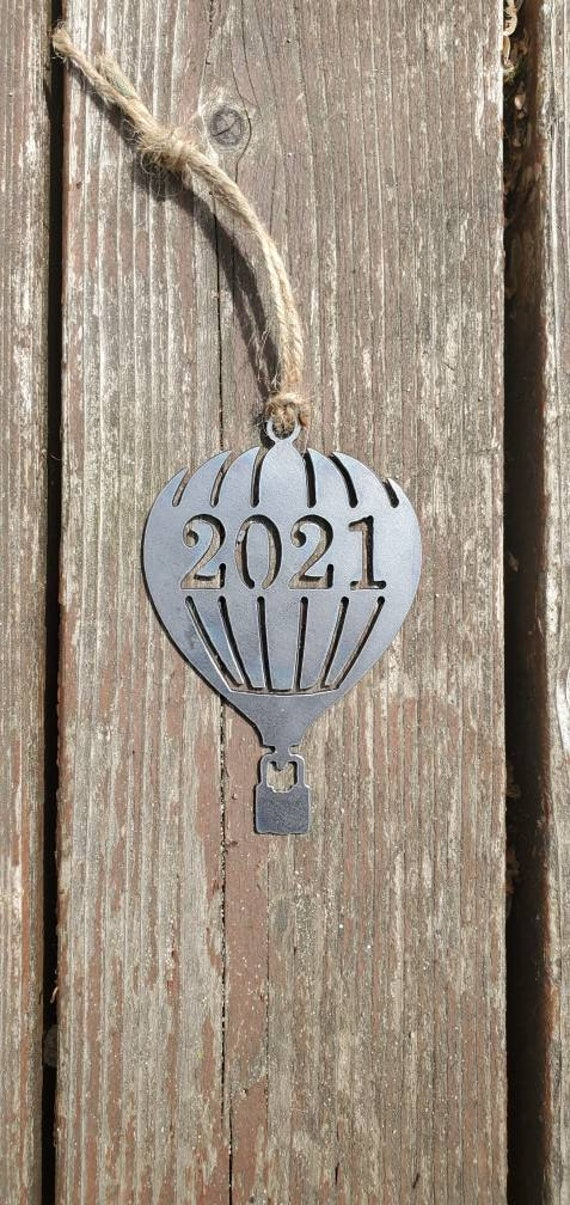 Hot Air Balloon Ornament Metal | Balloon Ornament | Outdoors | Raw Steel Balloon | Rearview Mirror | Balloon Festival