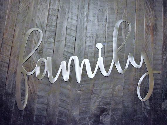Metal Family Sign | Custom Metal Sign | Farmhouse Sign | Metal Home Decor Sign