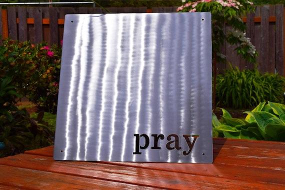 "Magnetic ""Pray"" Board | Pray | Magnetic board | Christian Decor | Custom Metal Sign | Organizational Board | Magnet Board | Memo Board"