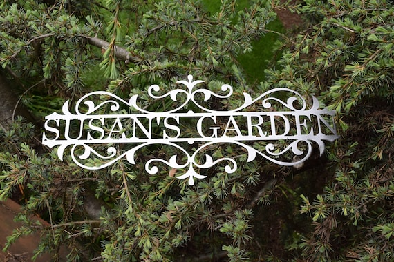 Custom Metal Garden Sign - Custom Metal Name Sign Custom metal Sign Metal Custom Garden Art Metal Garden Sign Yard Art Garden Decoration
