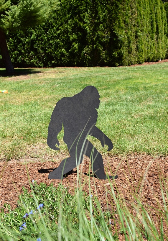 Sasquatch Garden Stakes | Bigfoot Yard Stakes | Staked Yard Art | Metal Sasquatch | Custom Yard Art | Bigfoot Yard Art