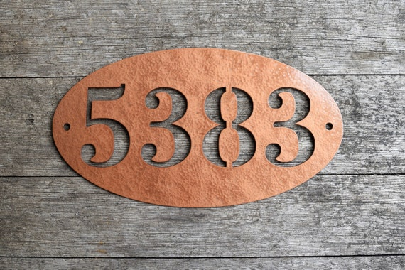 Small 5.5x10 inch Metal Oval Horizontal Address Sign| Custom House Number Plaque |Address Plaque|Outdoor Sign|Mailbox Numbers| House Numbers