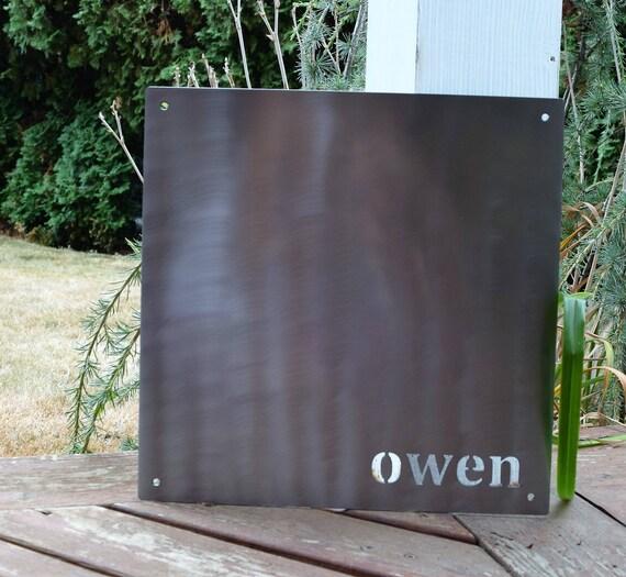 14 x 14 inch Square Custom Magnetic Board | Custom Metal Sign | Custom Magnet Board | Custom Magnetic Sign | Children Art | Bulletin Board