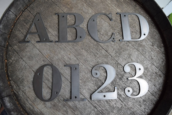 "6"" Tall Metal Letters and Numbers 
