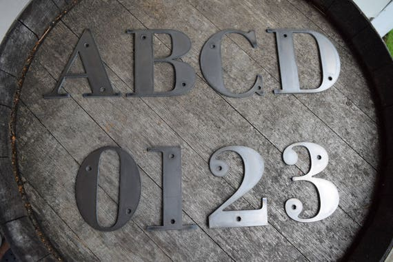 "4-1/2"" Tall Metal Letters and Numbers 
