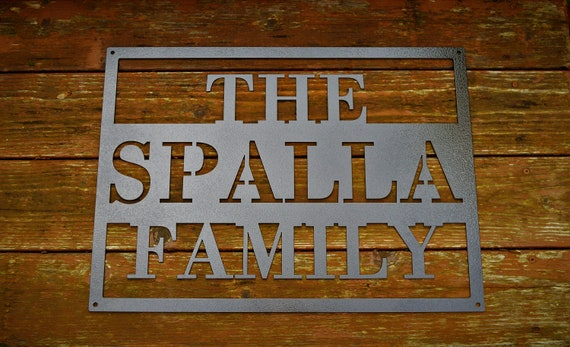 Personalized Metal Name Sign | Custom Metal Name Sign | Custom Metal Sign | Metal Farmhouse Sign | Family Name Sign