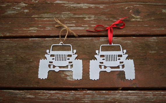 Jeep YJ Metal Steel Christmas Ornament  | Christmas Ornament | Christmas Decor | Rearview Mirror | Off Road Explore Trails Adventure 4x4