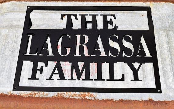 Personalized Metal Name Sign | Custom Metal Name Sign | Custom Metal Sign | Metal Farmhouse Sign | Family Name Sign