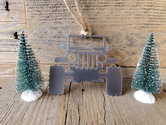 Jeep CJ Metal Steel Christmas Ornament  | Christmas Ornament | Christmas Decor | Rearview Mirror | Off Road Explore Trails Adventure 4x4