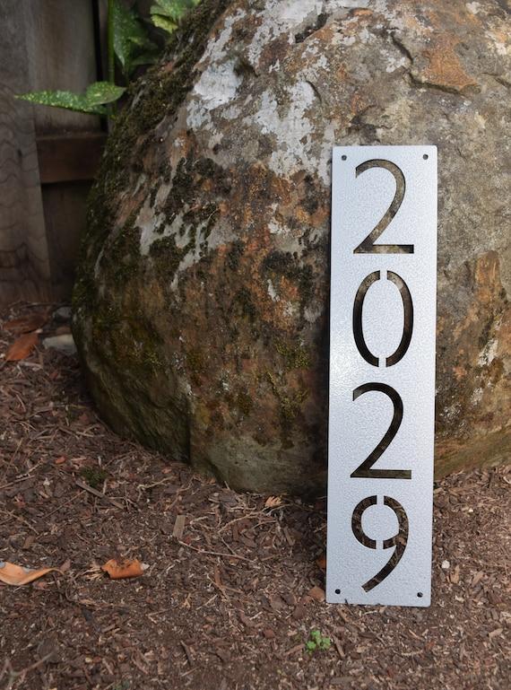 Metal Vertical Home Address Sign