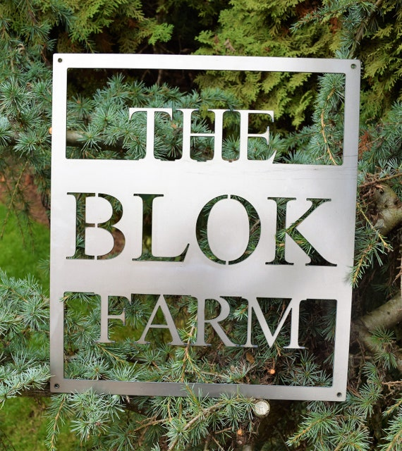 Personalized Metal Farm Sign | Custom Metal Name Sign | Custom Metal Sign | Metal Farmhouse Sign | Family Name Sign |Vintage Wall Art | Farm