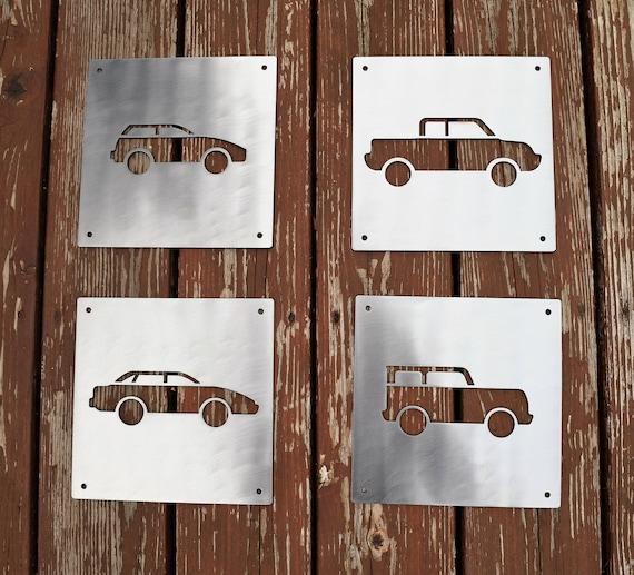 Metal Car Signs | Wall Art | Baby Boy Nursery Sign | Personalized Wall Art | Boys Room | Baby Shower Present | Kids Room | Custom Metal Sign