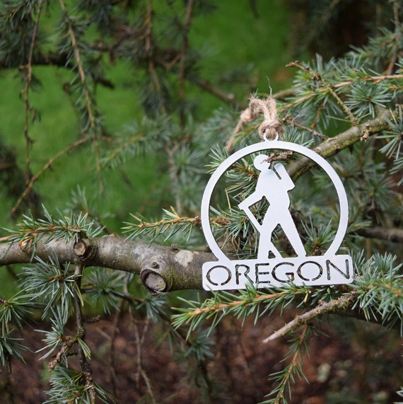 Oregon Hiking Ornament | Hiking Ornament | Outdoors Ornament | Christmas Ornament | Hiking Decor | Woods Decor | Forest Ornament
