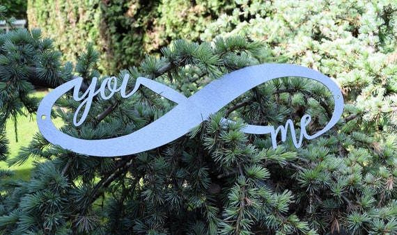 Infinity Sign | You and Me Sign | Metal Infinity | Metal Love Sign | Infinity Symbol | Wedding Sign | Marriage Sign | Valentine's Day Sign