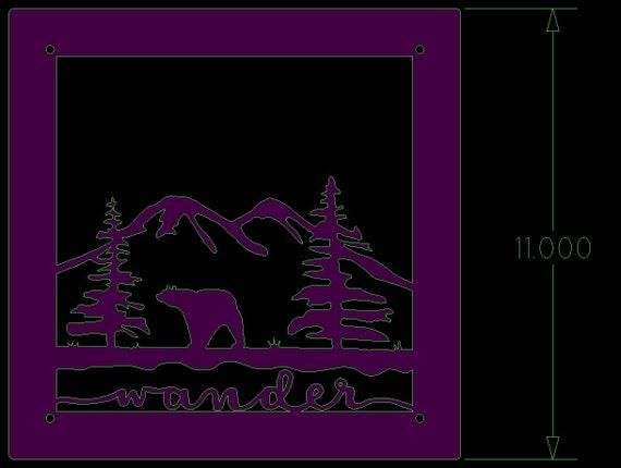 Custom order for Farishta - Polish & Clearcoat - Bear and mountains (wander) - 11 Inch