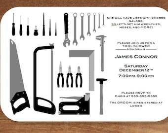 Groom's Tool Shower Invitation Printable
