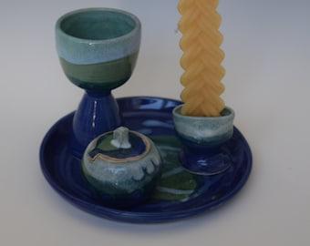Handmade Ceramic Havdalah Set, Havdala, Jewish Ritual, Wedding Gift, Bar and Bat Mitzvah Gift