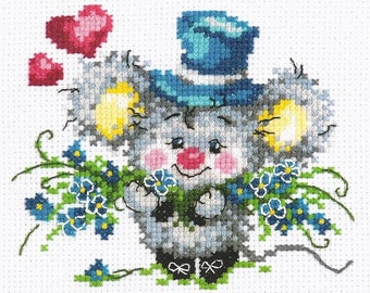 cat Cross Stitch Kit Guess who is NV-666