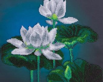 Bead embroidery kit White Lotus BN-5004