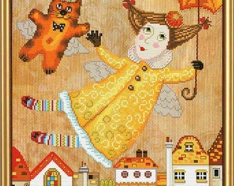 Cross Stitch Kit Fairy with umbrella