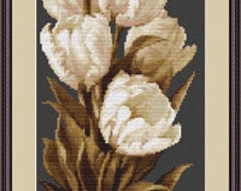Cross Stitch Kit Tulips Luca-s Anchor threads