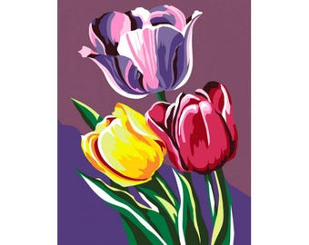 Paint by numbers kit Tulips