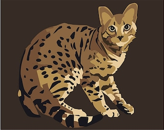 Paint by numbers kit Bengal cat