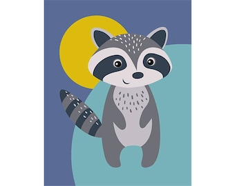 Paint by numbers kit RACOON T16130107