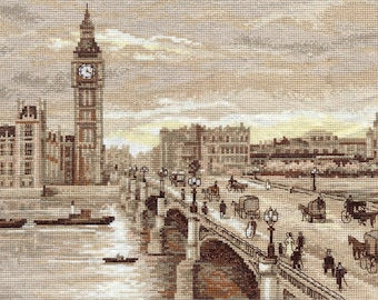 Cross Stitch Kit Golden Series GM-1254 London. Westminster Bridge