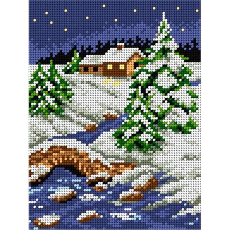 TAPESTRY CANVAS Winter 15x15cm 2720D