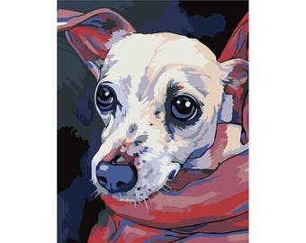 Paint by numbers kit  TOY TERRIER T16130089