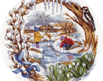 Counted Cross Stitch Kit Spring Creek D-1236