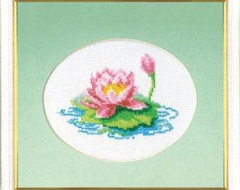 Bead embroidery kit Lotus