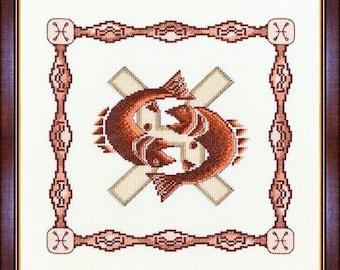 Cross Stitch Kit Horoscope Pisces