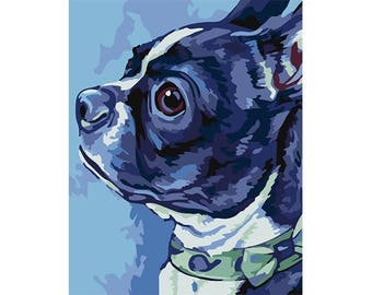 Paint by numbers kit BOSTON TERRIER