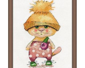 Cross stitch kit Ginger cat
