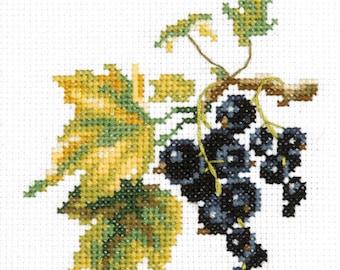 Cross stitch kit Black currant
