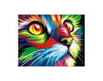 Paint by numbers kit RAINBOW CAT A4 TA40108