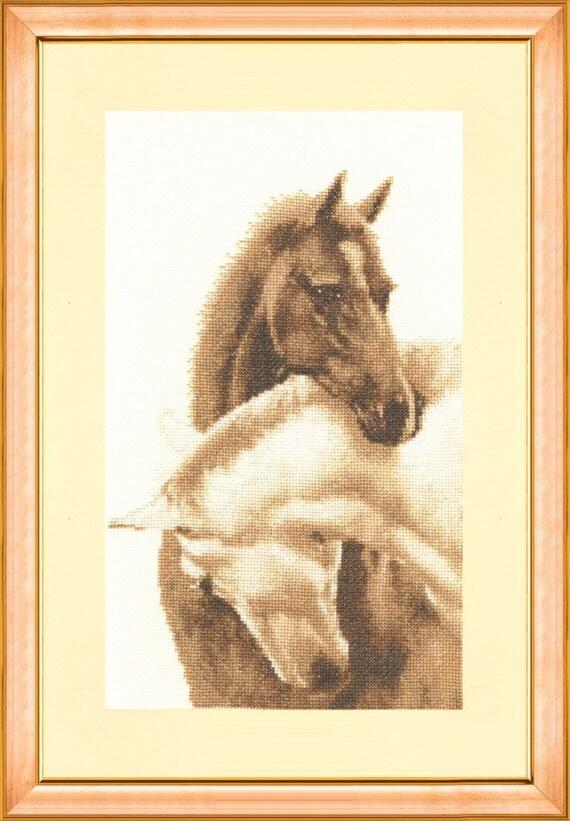 395 Cross Stitch Kit White Horses art