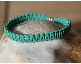 turquoise blue braided leather braided bracelet
