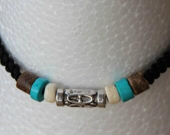 wire nylon with coconut wood Beads Bracelet