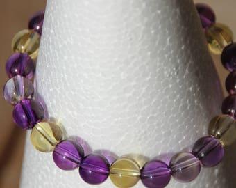 Amethyst and citrine bracelet