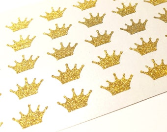 5992c3bcbc1 40 Glitter Crown Stickers